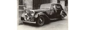 A black and white picture of the Bentley Mark V | Bentley Motors