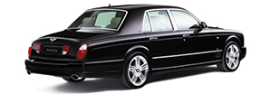 A rear view of the sophisticated black Bentley Arnage Final Series | Bentley Motors