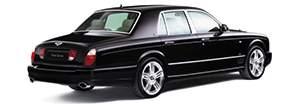 A rear view of the sophisticated black Bentley Arnage Final Series | Bentley Motors