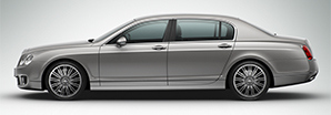 A side profile of a grey Bentley Continental Flying Spur Speed | Bentley Motors