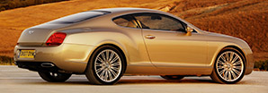 A side profile of the Bentley Continental GT Speed by a field | Bentley Motors
