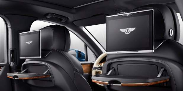 Rear Seat Penger Tablets In The Bentley Bentayga Sel Luxury Suv Motors