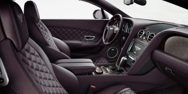 Bentley Continental GT front cabin with leather interior and quilted seats | Bentley Motors