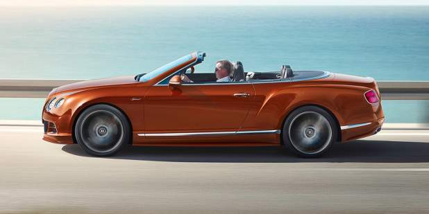 Bentley Continental GT Speed Convertible, side view