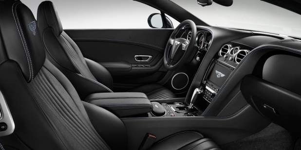 Front cabin of a Bentley Continental GT V8 S with all black interior | Bentley Motors