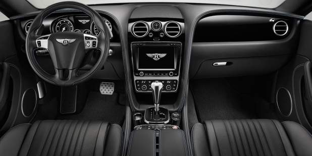 Bentley Continental GT V8 S front seats with all black leather interior | Bentley Motors