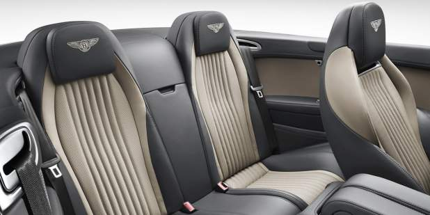 A rear cabin interior view of a Bentley Continental GT V8 S Convertible | Bentley Motors
