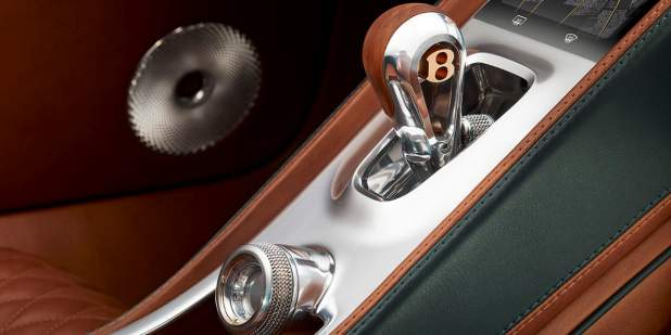 Bentley EXP 10 Speed 6 Concept car centre console with leather finish | Bentley Motors