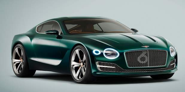 Front View Of A Green Bentley Exp 10 Sd 6 Concept Motors