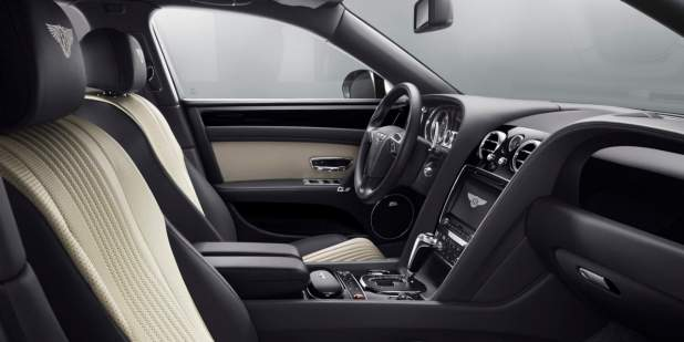 The front cabin interior of a Bentley Flying Spur V8 S  | Bentley Motors