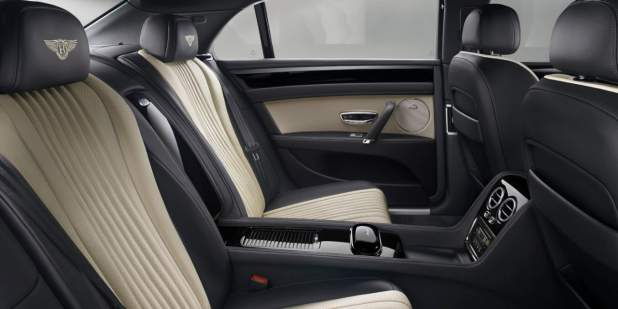 Bentley Flying Spur V8s Rear Cabin With Black And Granite Leather Seats Motors