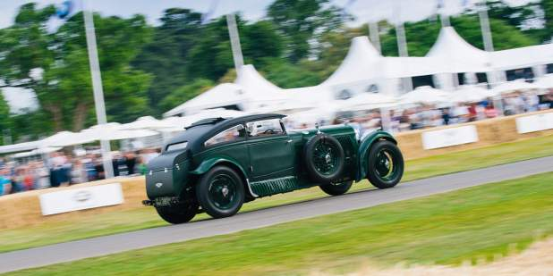 Bentley Heritage Blue Train car driving through Goodwood Festival 2015 | Bentley Motors