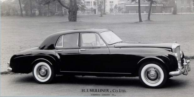 Black and white photo of a heritage Mulliner Bentley Continental | Bentley Motors