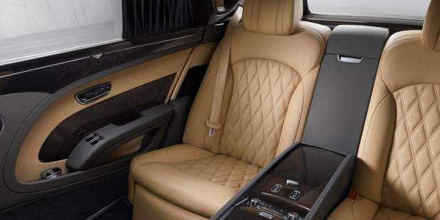 A rear cabin interior picture of a Bentley Mulsanne Extended wheelbase | Bentley Motors