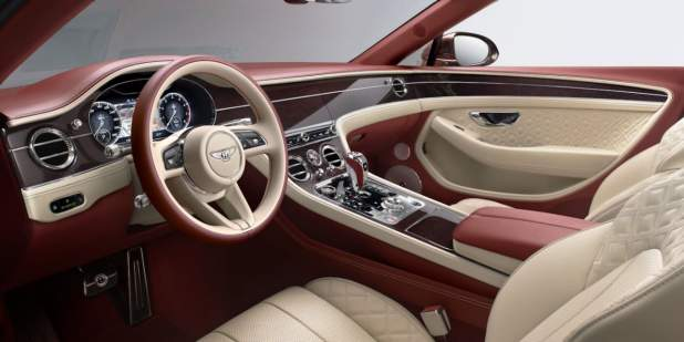 New-Continental-GT-Convertible-front-interior-new-steering-wheel