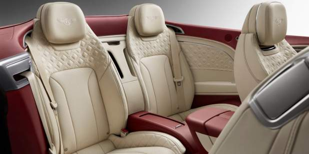 new-Bentley-Continental-GT-Convertible-rear-seats-with-Cricket-ball-red-and-Linen-quiilted-leather