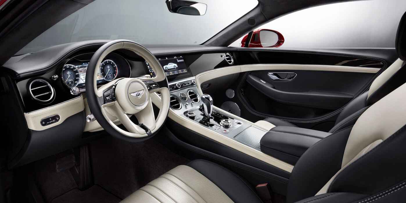 Front interior of new Continental GT V8