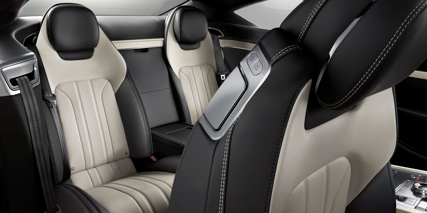 Rear seats of new Continental GT V8