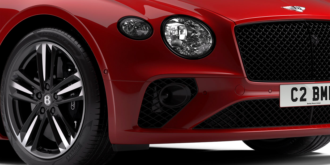 Continental GT V8 Convertible front LED Matrix headlamp and dark tint grille