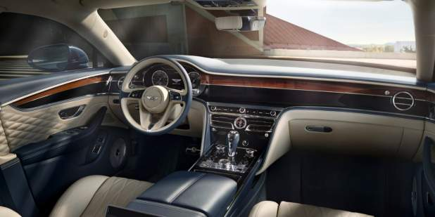 bentley-new-flying-spur-front-cabin-interior-in-building-in-daytime