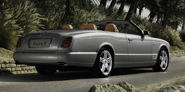 Silver Bentley Azure T Convertible Parked At A Tropical Location Motors