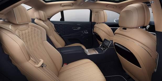 bentley-flying-spur-mulliner-rear-interior-imperial-blue-camel-roof-lining