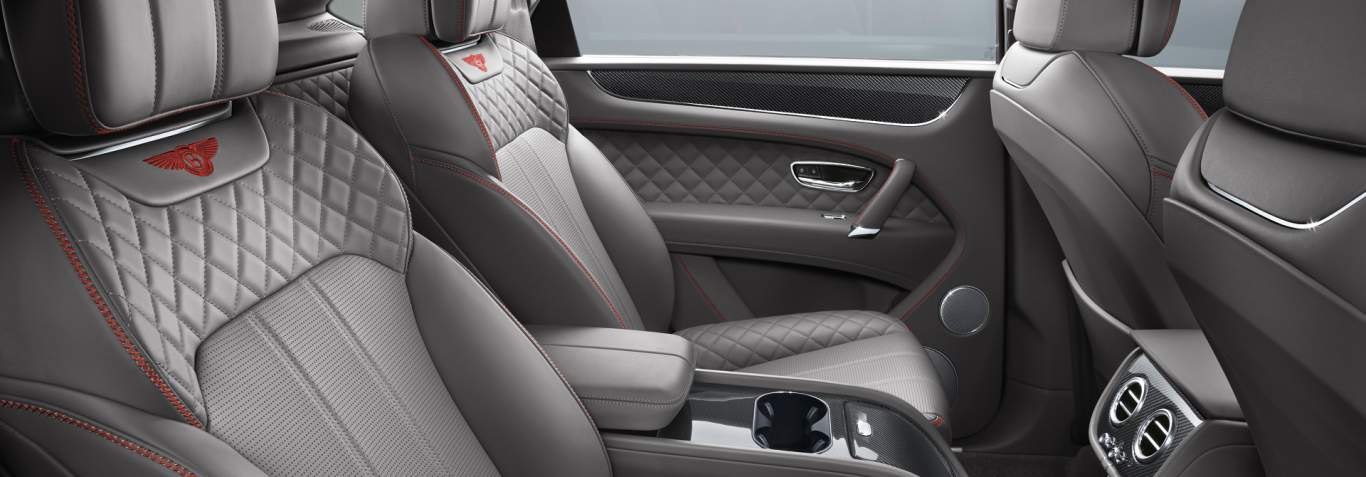 Bentley Bentayga V8 Rear Interior With Porpoise Grey