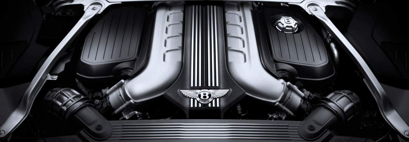 New Bentley Continental GT 2017 W12engine manifold in black and grey
