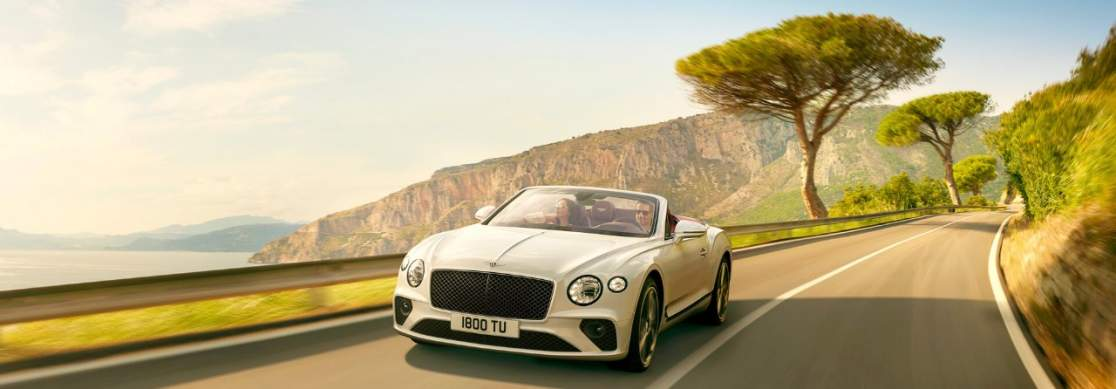 New Ice White Bentley Continental Gt Convertible Driving