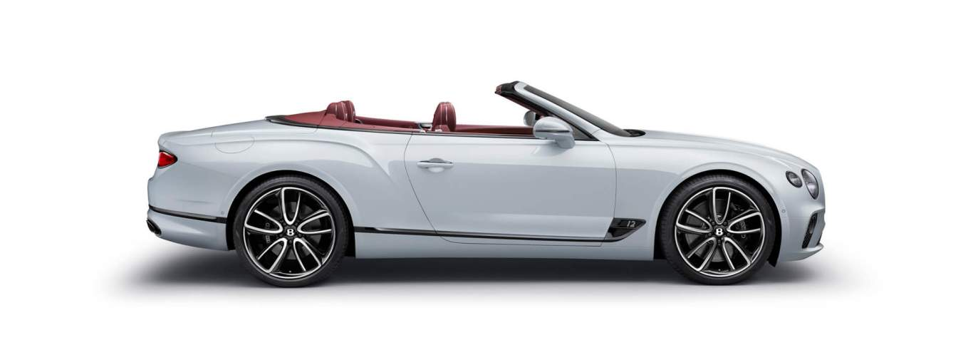New Ice White Bentley Continental Gt Convertible Profile