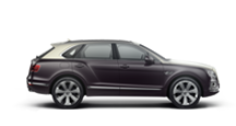 Side view of a duo-tone Bentley Bentayga Mulliner SUV | Bentley Motors