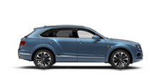 Side profile view of a blue Bentley Bentayga Diesel SUV | Bentley Motors