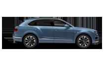 Side profile view of a blue Bentley Bentayga Diesel SUV | Bentley Motors