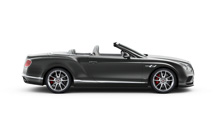 Side of a black Bentley Continental GT V8 S Convertible with lowered roof | Bentley Motors