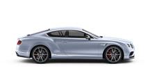 Side view of a grey-blue Bentley Continental GT V8 S Sports Car | Bentley Motors