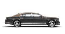Side view of a duo-tone Bentley Mulsanne Extended Wheel Base | Bentley Motors