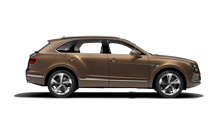 Side view of a bronze Bentley Bentayga SUV with silver wheel rims | Bentley Motors