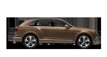 Side view of a bronze Bentley Bentayga SUV with silver wheel rims | Bentley Motors