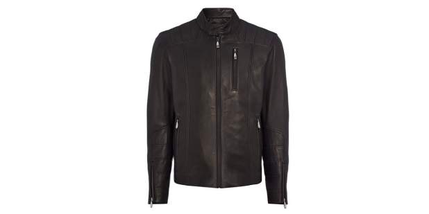Bentley black leather jacket for men as part of the Iconic Classics collection | Bentley Motors