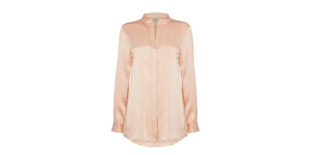 Blush coloured Bentley Women's silk tunic from the Iconic Classics collection | Bentley Motors