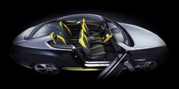Aerial view of a limited edition Bentley Breitling Jet Series interior | Bentley Motors