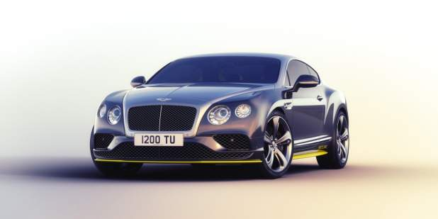 Front profile shot of a duo-tone limited edition Bentley Breitling Jet Series Continental GT Speed | Bentley Motors