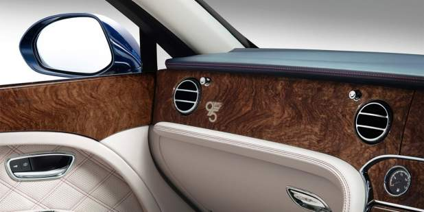 The unique veneer finish of a Limited Edition Bentley Mulsanne 95 | Bentley Motors