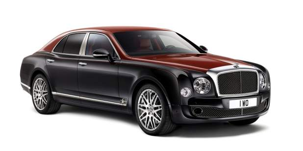 Profile view of a duo-tone limited edition of a Bentley Mulsanne Majestic | Bentley Motors