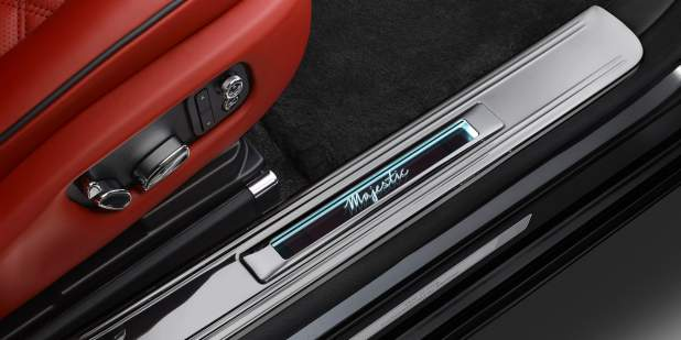 Magnified view of a Bentley Mulsanne Majestic Limited Edition signature treadplate | Bentley Motors