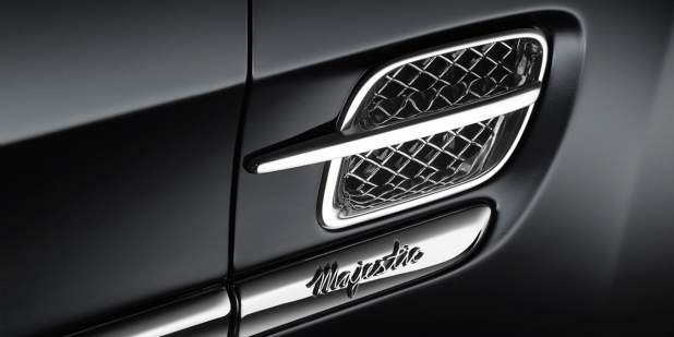 Exclusive badge on the exterior of a limited edition Bentley Mulsanne Majestic | Bentley Motors